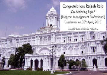 Congratulations Rajesh on Achieving PgMP..!